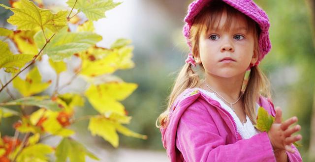 Прогулка с ребёнком осенью