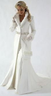 зимняя свадебная мода  2014